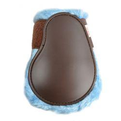 Norton Comfort fetlock boots Brown - light blue