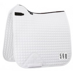 Lemieux Prosport Competition Dressage Square White (Short Straps)