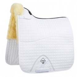 LeMieux Pro LambsWool Dressage Square Half Lined Natural / white