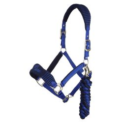 Lemieux Vogue Fleece Headcollar With Leadrope navy blue / blue