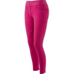 Pantalon Equi-Theme Pull-On Enfant Fuchsia surpiqûres violettes
