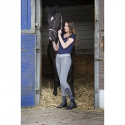 Equi-Theme Pull-On Cool ladies breeches Heather grey