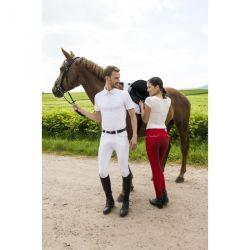Pantalon Equi-Theme Verona Homme fond Ekkitex Blanc / gris clair