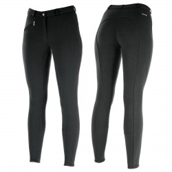 Horze Women's Active Silicone Grip Full Seat Breeches Black
