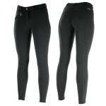 Horze Women's Active Silicone Grip Full Seat Breeches Black