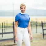 Pantalon Horze Active à fond silicone femme Blanc