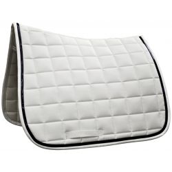 DAYTONA DRESSAGE SADDLE PAD White / navy blue