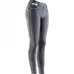 Pantalon femme Equi-Theme Léa Anthracite / gris / blanc