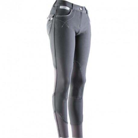 Pantalon femme Equi-Theme Léa Anthracite   gris   blanc c9bd1c28af5
