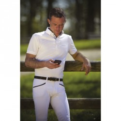 Equi-Theme Mesh polo shirt, short sleeves
