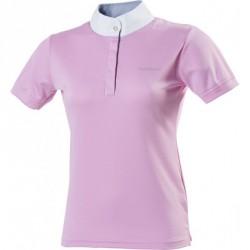 Equi-Theme Mesh Colours polo shirt, short sleeves pink, blue / white