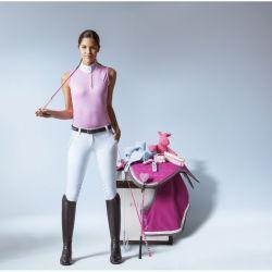 Equi-Theme Mesh Colours SM polo shirt, sleeveless