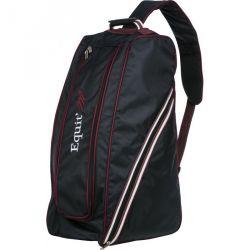 Equit'M Double zip boot bag Navy blue / burgundy