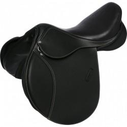 ERIC THOMAS FITTER Jumping saddle, lined leather Black