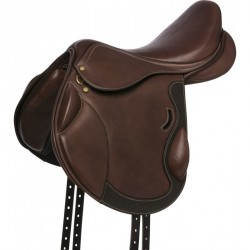 ERIC THOMAS FITTER Cross country saddle, lined leather Havana brown