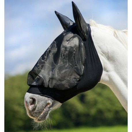Masque /à mouche,Masque Anti-Mouches,Hook /& Loop attache Fournitures de harnais de couverture de nez de cheval anti-moustique Anti-mouche /équestre masque de cheval fournitures--Masque de nez de cheval