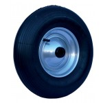 Inflatable wheel 400 x 8 with metallic rim and inner tube
