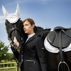 Equi-Theme Diamond fly mask White