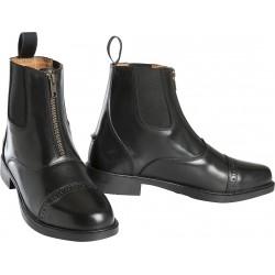 Boots Enfants Equi-Theme Zip Cuir Noir