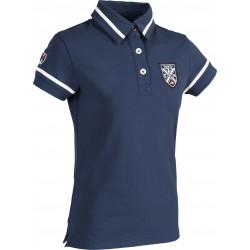 Polo enfant jersey Equi-Theme Equit'M manches courtes Gris chiné