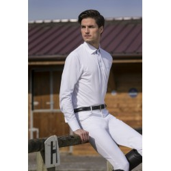 Equi-Theme Mesh polo shirt long sleeves