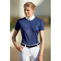 """EQUI-THÈME """"Coeurs"""" polo shirt, short sleeves"""