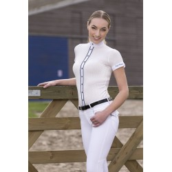 Polo femme Equi-Theme Gaufré manches courtes