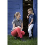 Equi-Theme Equit'M Jersey polo shirt short sleeves Navy