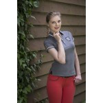 Equi-Theme Equit'M Jersey polo shirt short sleeves Heather grey