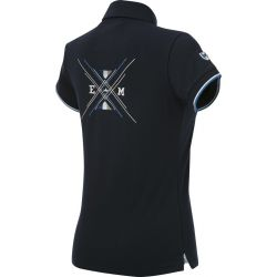 Equit'M Jersey polo shirt short sleeves Navy