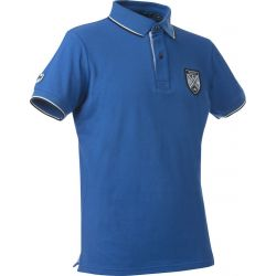 Equit'M fine pique polo shirt short sleeves - kids Royal blue