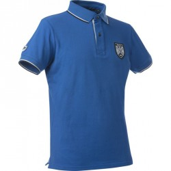 Equit'M fine pique men's polo shirt short sleeves Royal blue