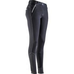 Pantalon Equi-Theme Zipper noir avant
