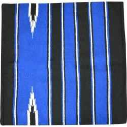 Tapis Randol's Navajo coton/acrylique Noir / bleu roi / blanc