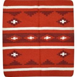Randol's Navajo Arizona wool horse pad Red / white / burgundy
