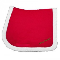 Christmas saddle pad Red