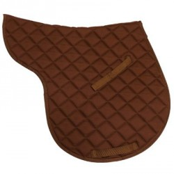 Cotton numnah saddle pad Chocolate brown