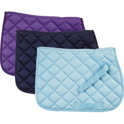 Quilted cotton saddle cloth Bondi beach blue