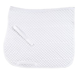 Dressage saddle cloth 15 mm quilted White