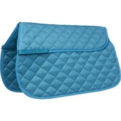 Saddle cloth with back pad pocket Bondi beach blue