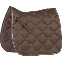 Equi-Theme Tomettes saddle pad Chocolate brown