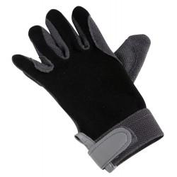 Gants coton/caoutchouc Noir
