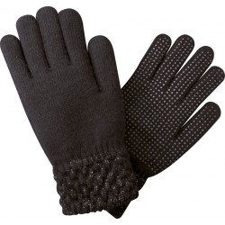 Unisize Lamé gloves Black