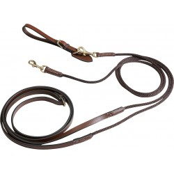 """Pro"" leather/rope draw reins"