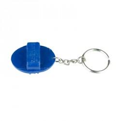 Porte-clés avec petite étrille Bleu