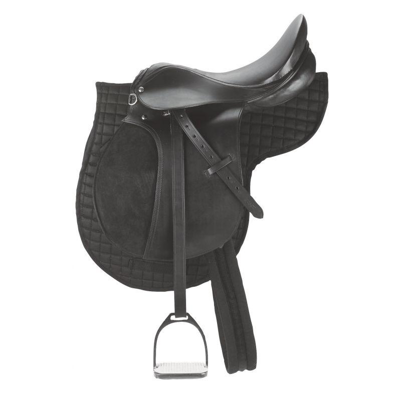 kit de selle poney kerbl 16 noir equitation. Black Bedroom Furniture Sets. Home Design Ideas