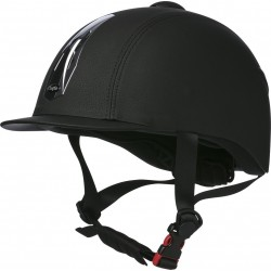 CHOPLIN Premium grainé adjustable helmet Black / chrome