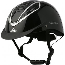 EQUI-THÈME Chrome helmet Shiny black