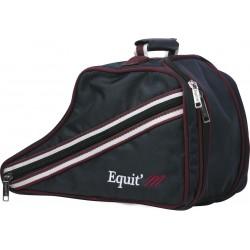 EQUIT'M Low boots bag Navy blue / burgundy