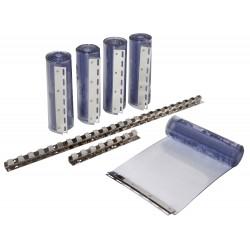 Cortinas de tiras de plástico 30 x 225 cm x 3 mm